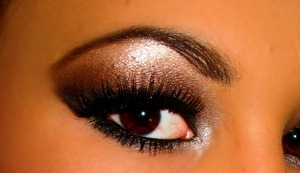 Kim Kardashian inspired smokey eyee