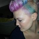 My rainbow hair