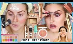 FULL FACE of FIRST IMPRESSIONS 🤢 i got a rash.... help 🤣