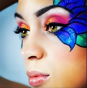 This is a look I created a few years ago...it's crazy to see how much my artistry has changed since then.