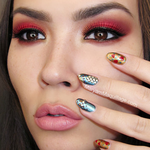 cuz love isn't always sweet, pink & girly :) DETAILS --> http://www.maryammaquillage.com/2013/01/rebel-valentine-nail-art-makeup.html