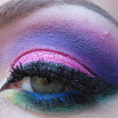 Pink and purple arabic makeup