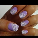 lavender lace nails