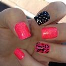 Neon pink & sparkles