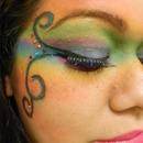 Faded rainbow mask...