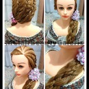 Five Strand Braid In Braid Prom Hairdo