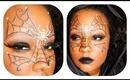 Halloween makeup Tutorial: Spider Web Mask
