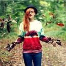 The Tree of Life Print Dual-tone Sweatshirt