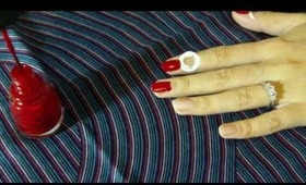 Vintage Half-Moon Manicure