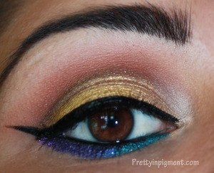 A bright jewel toned look I created inspired by the new Style Seeker collection by MAC.