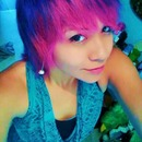 pink and purple hair short