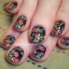 Flemish Bouquet Nail Art Hand Painted