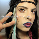 Modern Hippie Makeup With Tie Dye Lips