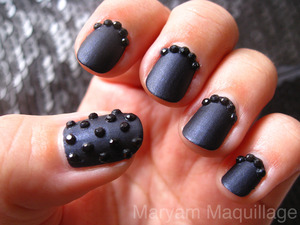 Black Caviar Nails http://www.maryammaquillage.com/2011/12/black-caviar-nails.html