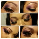 Purple N Gold Smokey Eye