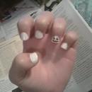 Smiling Snowman Nails