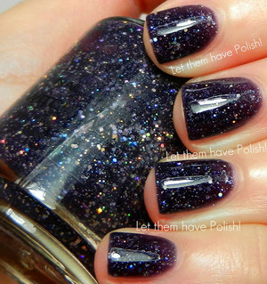Beautiful inky jelly packed full of Twinkling Silver glitter in varying sizes.