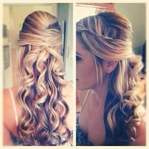 this would be a gorgeous homecoming hair style