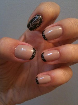Nude with Black Shatter French