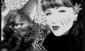 Sakigirl's Halloween Pin up makeup contest ,.. :)