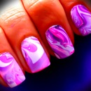 Marble Print Nail Design