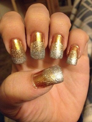 Silver and gold gradient.