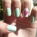 heart nails.