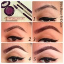 step by step natural purple brows