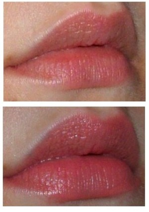 Bottom: Sleek True Color lipstick in Barely There