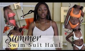 Summer SWIMSUIT Haul | FOREVER 21, TOP SHOP | @rachaelnalumu