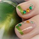 St. Patrick's Day Nail art