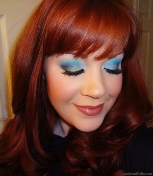 For more info on this look, please visit: http://www.vanityandvodka.com/2013/08/bright-bluegreens-with-sugarpill.html xoxo,  Colleen