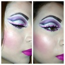 Pink and glitter Barbie make-up