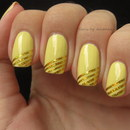 Golden Striping Tape Manicure