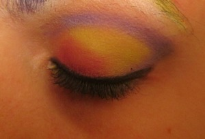 i love these colors ... p.s. i never realized i had a freckle on my eyelid before ha-ha