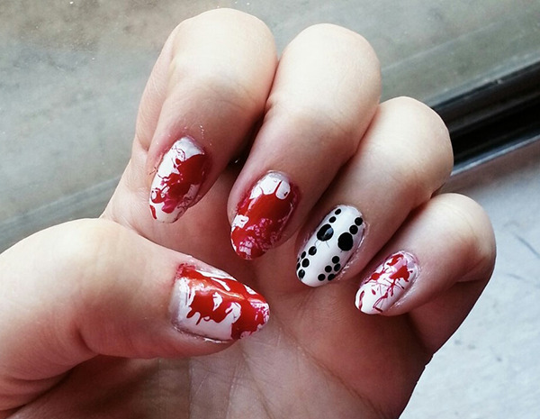 Halloween Nail Art: Friday The 13th Theme