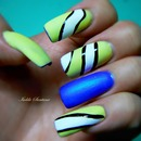 Lime Crime / China Glaze / Matte Finish Top Coat / YELLOW AND BLUE  MANICURE