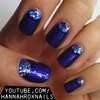 Bejeweled Half Moon Nails