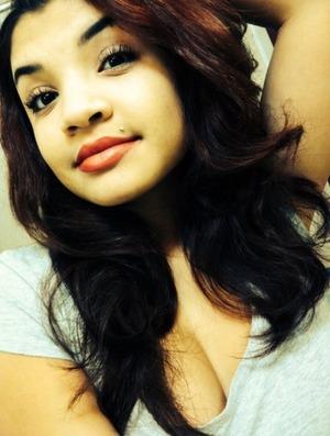 Non-heat curls, red lips, simple mascara.