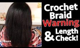 4 Inch Hair Loss! Fine Natural Hair & Crochet Braids WARNING