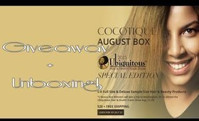 Giveaway & Unboxing Cocotique August 2015