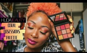 TUTORIAL: Huda Beauty Coral Obsessions Palette