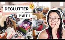 DECLUTTERING & ORGANIZING // CLEAN WITH ME   part 1