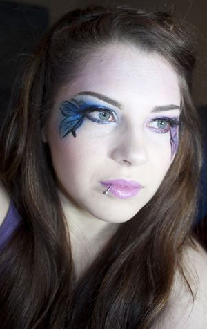 Me Being Silly with makeup out of boredom LOL I'm a Butterfly Fairy! http://samariums-swatches.blogspot.com/2012/03/311-eotd-some-sugar-pill-swatches-and.html