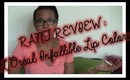 RANT REVIEW: L'Oreal Infallible Lip Colors (Best in Beauty #4)