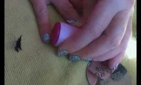Cute Swirly konad Nail Art  Tutorial for long and Short Nails M64 (Blue & Black) uk