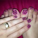 Summer/Pink Leopard Nail Art