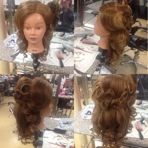 Vintage up do done by me