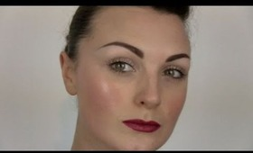 Easy glossy skin and natural eyes tutorial