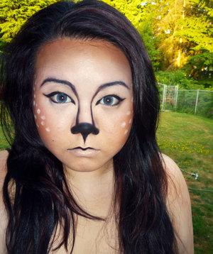 Halloween or theatre makeup look for a Deer character.